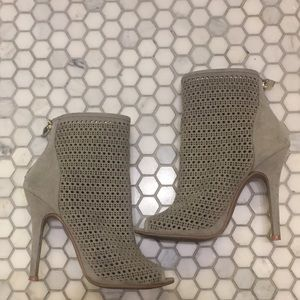 Chinese Laundry Grey Open Toe Bootie - 7